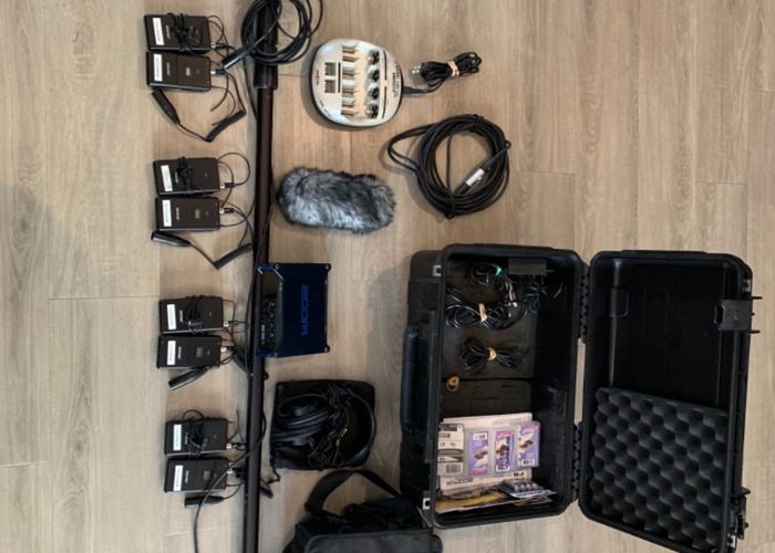 Zoom F8 Field Recorder/Lav & Boom Mic Sound Package - 1