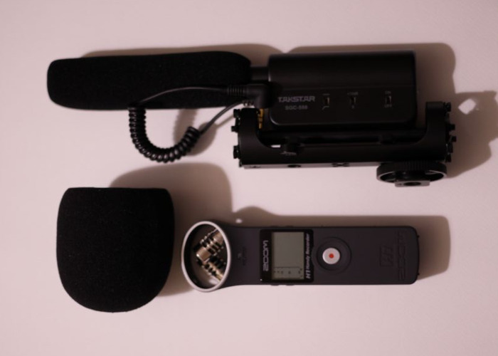 Zoom H1 recorder with Takstar Mic - 1
