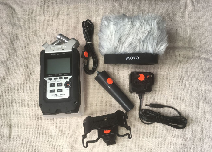 Zoom H4N Pro Recorder, MOVO Furry Windscreen, 16GB SD Card - 1