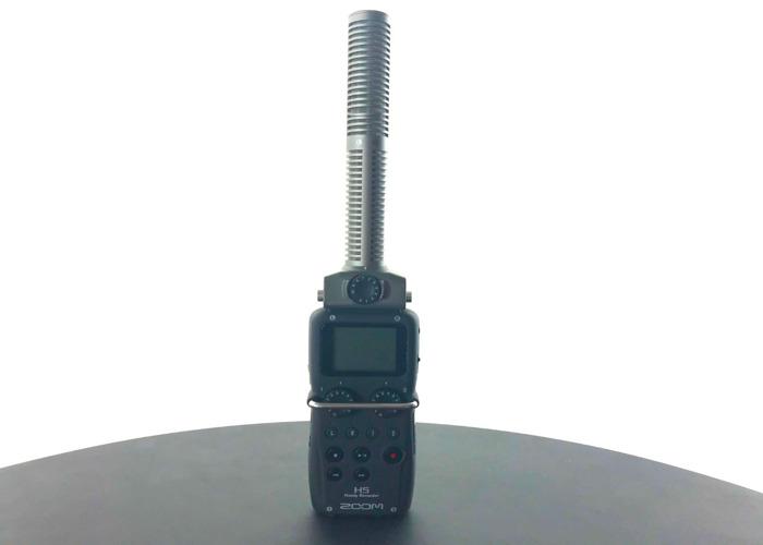 Zoom H5 Audio Recorder w/ Zoom SSH-6 Stereo Shotgun Mic - 1