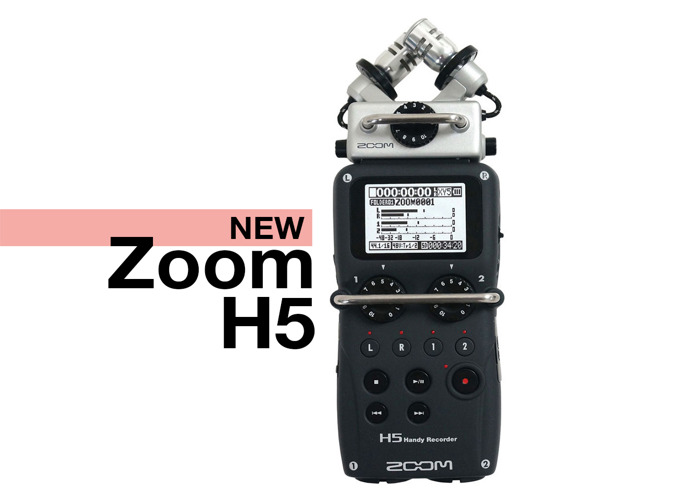 Zoom H5 Portable 4-track Audio Recorder with integrated microphones, 32 GB Card and DSLR Mount - 1