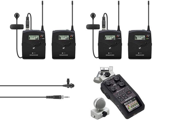 Zoom H6 Audio Recorder + Sennheiser G4 Radio Mics+ lavalier - 1