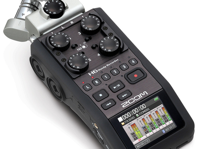 Zoom H6 Audio Recorder with SD card - 1