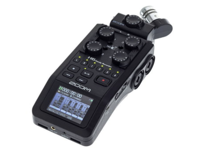 Zoom H6 Professional Audio Recorder Interview Film - 1