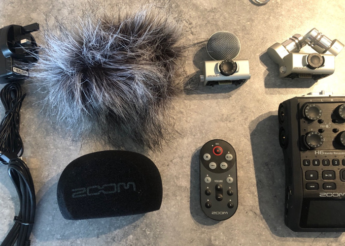 ZOOM H6 Recorder - with batteries, SD card and accesories - 1