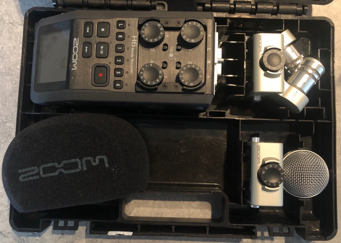 ZOOM H6 Recorder - with batteries, SD card and accesories - 2