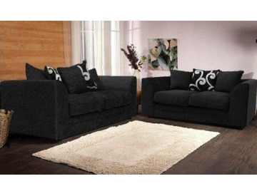 Prime Buy Brand New Zinc Chenille Grey Or Black Fabric 3 Ncnpc Chair Design For Home Ncnpcorg