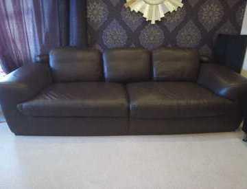 4 seater Italian Leather Sofa (2 available)