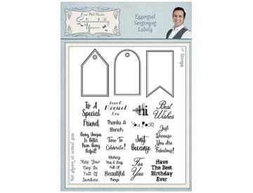 Sentimentally Yours Banner /& Flag Sentiments A5 Clear Stamp Set Phill Martin