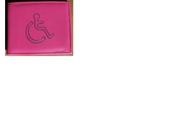 Disabled Badge Holder Wallet Parking Blue Disability Cover Genuine PU LeathER