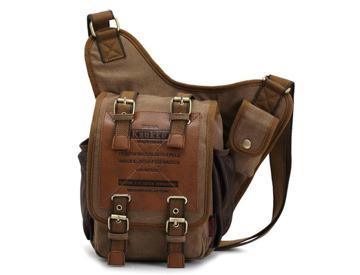 Buy KAUKKO Men Retro Canvas Travel Shoulder Bags | Fat Llama