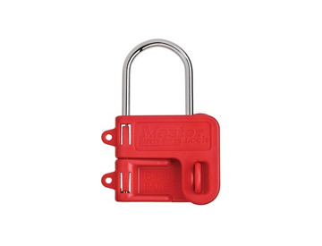 Lockout Padlock with Flexible Braided Steel Cable Shackle Master Lock