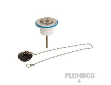 "Plug /& Chain 1-1//4/"" 639063 Plumbob Slotted Basin Waste 32mm"