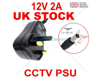 Buy Power Supply Unit Adapter PSU 2 Amp 2000ma 2 1mm 12V DC