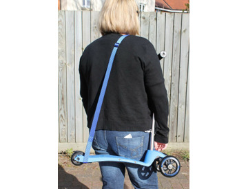 Blue Baosity 100cm Children Kids Scooter Lead Pull Strap Scoot Tow Line Carry Strap