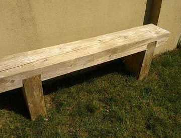 Rent Wooden Railway Sleeper Garden Bench In Bristol Rent