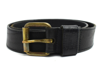 Buy World Pepe Service Vintage Handmade Leather Belt Black